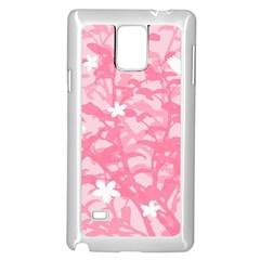 Plant Flowers Bird Spring Samsung Galaxy Note 4 Case (White)