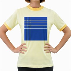 Stripes Pattern Template Texture Women s Fitted Ringer T Shirts