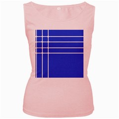 Stripes Pattern Template Texture Women s Pink Tank Top