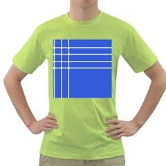 Stripes Pattern Template Texture Green T-Shirt