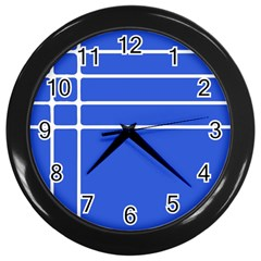 Stripes Pattern Template Texture Wall Clocks (black)