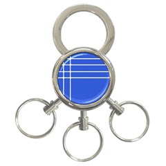 Stripes Pattern Template Texture 3-Ring Key Chains