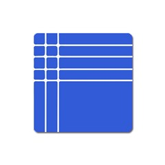 Stripes Pattern Template Texture Square Magnet