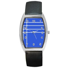Stripes Pattern Template Texture Barrel Style Metal Watch