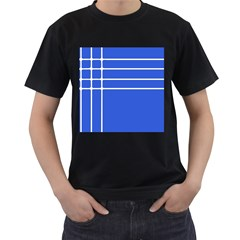 Stripes Pattern Template Texture Men s T-Shirt (Black) (Two Sided)