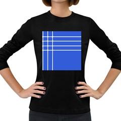 Stripes Pattern Template Texture Women s Long Sleeve Dark T-Shirts