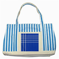 Stripes Pattern Template Texture Striped Blue Tote Bag