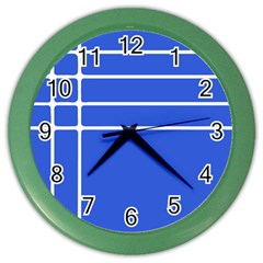 Stripes Pattern Template Texture Color Wall Clocks
