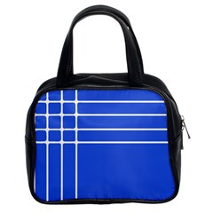 Stripes Pattern Template Texture Classic Handbags (2 Sides)