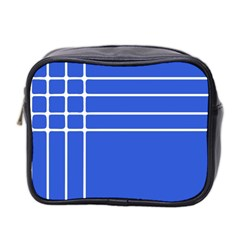Stripes Pattern Template Texture Mini Toiletries Bag 2-Side