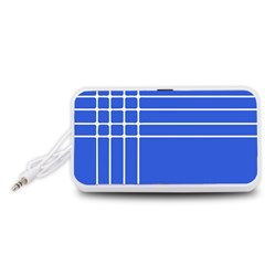 Stripes Pattern Template Texture Portable Speaker (White)