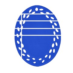 Stripes Pattern Template Texture Oval Filigree Ornament (Two Sides)