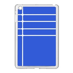 Stripes Pattern Template Texture Apple iPad Mini Case (White)