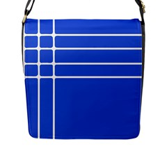 Stripes Pattern Template Texture Flap Messenger Bag (L)