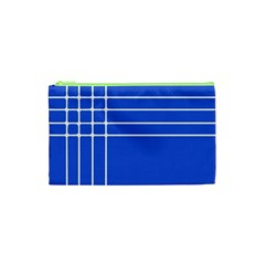 Stripes Pattern Template Texture Cosmetic Bag (XS)