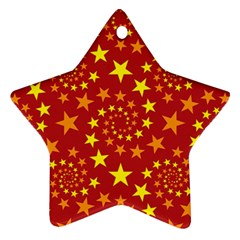 Star Stars Pattern Design Star Ornament (Two Sides)