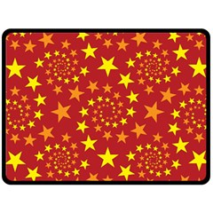 Star Stars Pattern Design Fleece Blanket (Large)