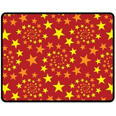 Star Stars Pattern Design Fleece Blanket (Medium)