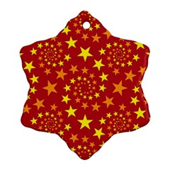 Star Stars Pattern Design Snowflake Ornament (Two Sides)