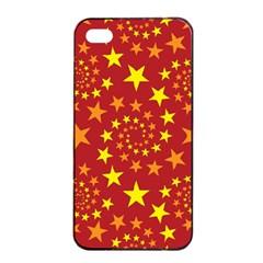 Star Stars Pattern Design Apple iPhone 4/4s Seamless Case (Black)