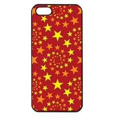 Star Stars Pattern Design Apple Iphone 5 Seamless Case (black)