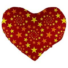 Star Stars Pattern Design Large 19  Premium Heart Shape Cushions