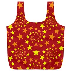 Star Stars Pattern Design Full Print Recycle Bags (l)