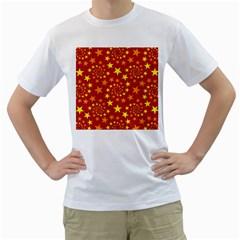 Star Stars Pattern Design Men s T Shirt (white)