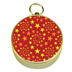 Star Stars Pattern Design Gold Compasses