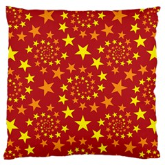 Star Stars Pattern Design Large Flano Cushion Case (Two Sides)