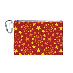 Star Stars Pattern Design Canvas Cosmetic Bag (M)