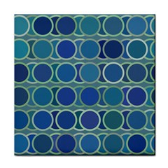 Circles Abstract Blue Pattern Tile Coasters