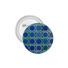 Circles Abstract Blue Pattern 1.75  Buttons