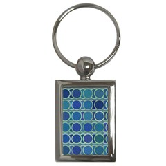 Circles Abstract Blue Pattern Key Chains (rectangle)