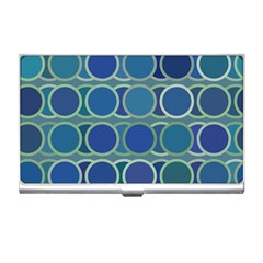 Circles Abstract Blue Pattern Business Card Holders