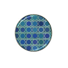 Circles Abstract Blue Pattern Hat Clip Ball Marker
