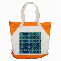 Circles Abstract Blue Pattern Accent Tote Bag