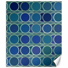 Circles Abstract Blue Pattern Canvas 20  x 24