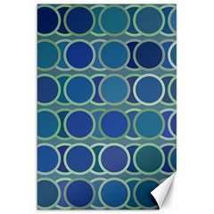 Circles Abstract Blue Pattern Canvas 20  X 30