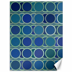 Circles Abstract Blue Pattern Canvas 36  x 48