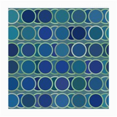Circles Abstract Blue Pattern Medium Glasses Cloth (2 Side)