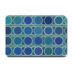 Circles Abstract Blue Pattern Small Doormat