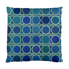 Circles Abstract Blue Pattern Standard Cushion Case (One Side)