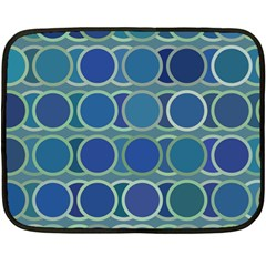 Circles Abstract Blue Pattern Fleece Blanket (Mini)