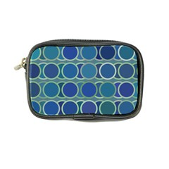Circles Abstract Blue Pattern Coin Purse