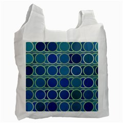 Circles Abstract Blue Pattern Recycle Bag (One Side)