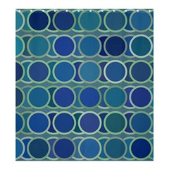 Circles Abstract Blue Pattern Shower Curtain 66  x 72  (Large)