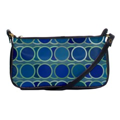 Circles Abstract Blue Pattern Shoulder Clutch Bags