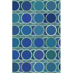 Circles Abstract Blue Pattern 5.5  x 8.5  Notebooks