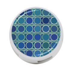 Circles Abstract Blue Pattern 4 Port Usb Hub (one Side)